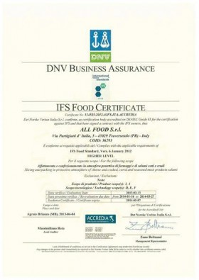 IFS Food Certificate - All Food